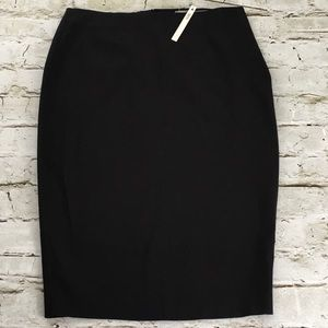 ASOS black stretchy business work pencil skirt
